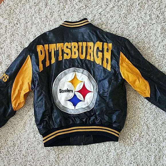 huge selection of ffec4 af027 Vintage Pittsburgh Steelers leather coat